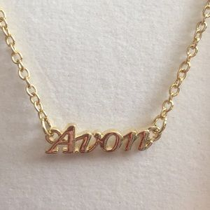 "Brand New in Box!! ""Avon""Nameplate Gold Necklace"